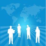 Världsöversikt med växelverkande organisation vektor illustrationer
