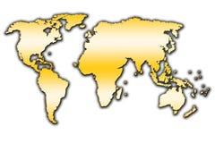 Världsöversiktsöversikt arkivfoto