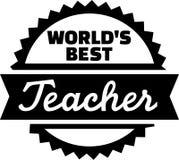 Världs bästa lärare royaltyfri illustrationer