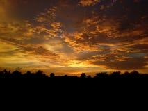 världs bästa solnedgång Arkivbilder