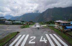 Världs` s mest farlig flygplats Royaltyfri Foto