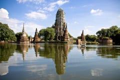 Världsarv i ayutthaya Thailand Royaltyfri Bild