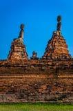 Världsarv i Ayutthaya, Thailand Arkivbild