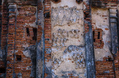 Världsarv i Ayutthaya, Thailand Arkivfoton