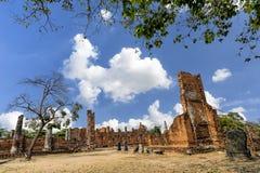 Världsarv på Wat Phra Si Sanphet ayutthaya thailand Royaltyfria Foton