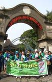 Världsautismdag i indonesia Arkivbild