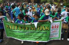 Världsautismdag i indonesia arkivfoto