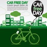 Världsbilen frigör dag. royaltyfri illustrationer