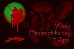 Världsblödarsjukadag 17 April Arkivbilder