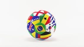 Världscup Brasilien Arkivbild