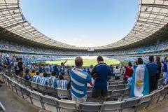Världscup Brasilien 2014 - Argentina 1 x 0 Iran arkivbild