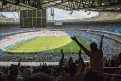 Världscup Brasilien 2014 - Argentina 1 x 0 Iran fotografering för bildbyråer