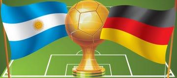 Världscupfinal 2014 stock illustrationer