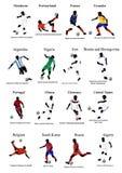 Världscuplag - 2 stock illustrationer