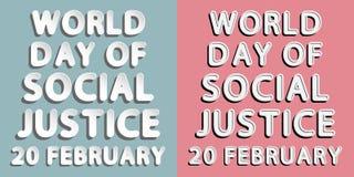 Världsdag av social rättvisa Arkivbild