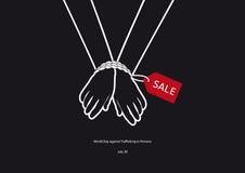 Världsdag mot människohandel i personvektor Royaltyfri Foto