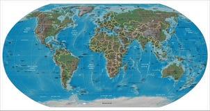 Världsdetaljöversikt Royaltyfri Fotografi