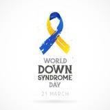 VärldsDown Syndrome dag 21 mars stock illustrationer