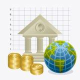 Världsekonomi, pengar och affär Arkivbilder