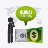 Världsekonomi, pengar och affär Royaltyfria Bilder