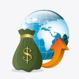 Världsekonomi, pengar och affär Arkivfoton