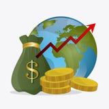 Världsekonomi, pengar och affär Royaltyfri Fotografi