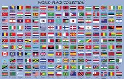Världsflaggasamling vektor illustrationer