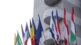 Världsflaggor lager videofilmer