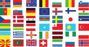 Världsflaggor Fotografering för Bildbyråer
