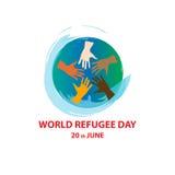 Världsflyktingdag på juni 20th Royaltyfri Fotografi