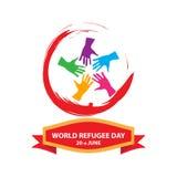 Världsflyktingdag på juni 20th Arkivbild