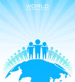 Världsgemenskap. Affärsidé Arkivfoto