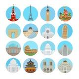 Världsgränsmärkesymboler Fotografering för Bildbyråer