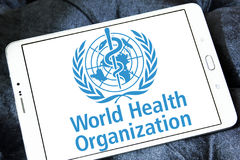 Världshälsoorganisation, WHO, logo Royaltyfria Foton
