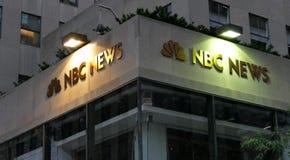 Världshögkvarteren för NBC-NYHETERNA Arkivfoton