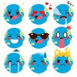 Världsjord Emoji vektor illustrationer