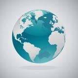 Världsjordklotöversikter - vektordesign Arkivfoto
