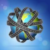Världsjordklotvägar vektor illustrationer