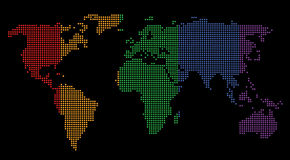 Världskarta Arkivfoto