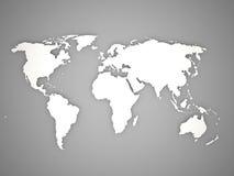 Världskarta Royaltyfri Fotografi
