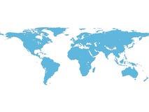 Världskarta Royaltyfri Bild