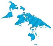 Världskarta arkivfoton