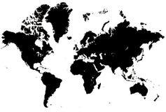 Världskarta Fotografering för Bildbyråer