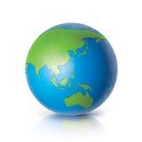 Världskarta för färg Asien & Australien royaltyfri bild