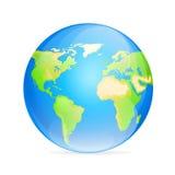Världskarta för färg för vektorjordklotsymbol Arkivfoto