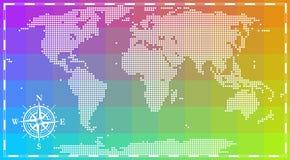 Världskarta för infographics Royaltyfri Foto