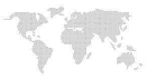 Världskarta för PIXELprickvektor i grå färger royaltyfri illustrationer