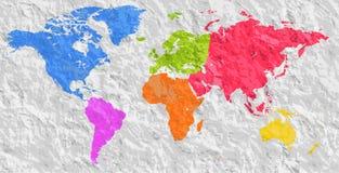 Världskarta för tom färgrik kontur för vektor liknande Monokrom Worldmap mall, websitedesign, årsrapporter, infographics de royaltyfri illustrationer
