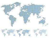 Världskarta i PIXEL. Arkivbild