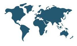 Världskarta i plan stil vektor illustrationer